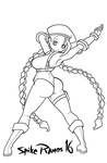 Cammy Lineart by SpikeRamos