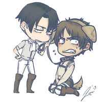 Eren + Levi Commission by ZeusHamilton
