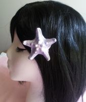 Purple Star seashell clip by ShopFantasy