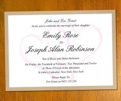 Wedding Invitation Template by danbradster