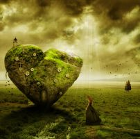 Stone Heart Photo Manipulation by PsdDude