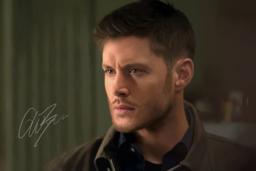 Dean Winchester digital drawing by PinkBucky