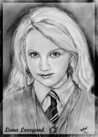 A portrait of Luna Lovegood 02 by Blondelover