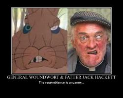 General Woundwort and Father Jack Demotivational by Headbanger14