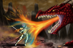 Fighting the dragon by Fralle-chan