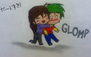 Glomp by JodieJuo