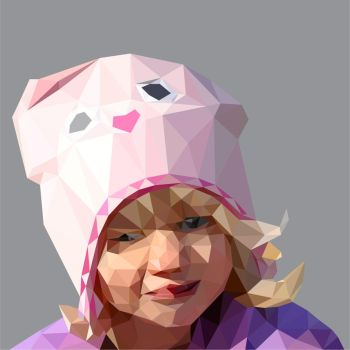 Low Poly Evelyn portrait by 3RDigraphics