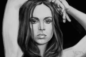 Eliza Dushku sketch 2 by tonyob