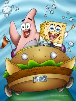 Sponge Bob and Patrick by Mareishon
