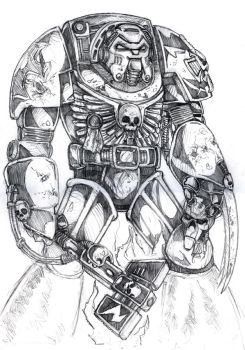 Warhammer 40k Terminator by old-stone-road