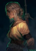 Ciri, Lion Cub of Cintra by TheBoyofCheese