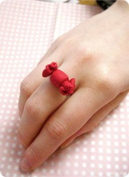 Ring - Candy Love .red. by itrill