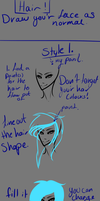 How draw hair {BASIC SAI 2 by XxSyl