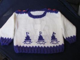 Hand Knitted children's Pullover -Sweater by MagicalString