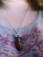 my chakra necklace by Moonshineemo
