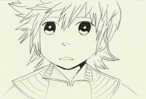 Sad Roxas by TheLonelyMoon8
