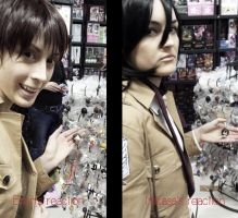 The difference between Mikasa and Eren's reaction! by ShiroDance