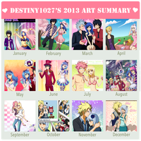 My Art Summary- 2013 by Inspired-Destiny