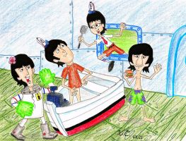 The Beatles in Bikini Bottom by Spongefifi