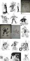 Inktober 2014 compilation by weremole