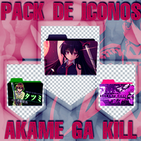 pack de iconos de Akame Ga Kill by nicolaspinto96