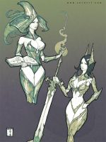 Armored Babes: Wondercon Edition by ArtofTy