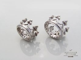 Crown white gold - Crown made of white gold and di by tivodar66