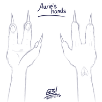 Aurie's hands by G3Drakoheart-Arts
