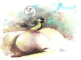 A GREAT TIT by lora-zombie