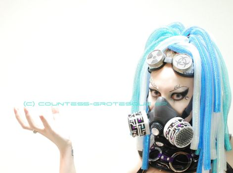 . cyber blue I . by Grotesque-Stock