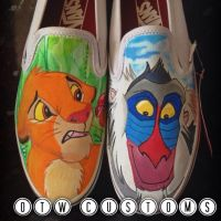 The Lion King Custom Vans by VeryBadThing