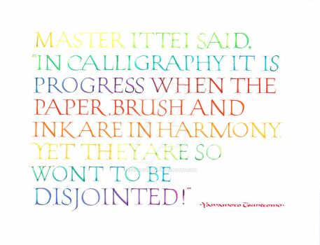 Quote from the Hagakure regarding calligraphy. by isolationism
