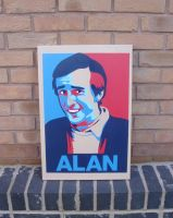Alan Partridge - Hope Poster Stencil n Spraypaint by RAMART79