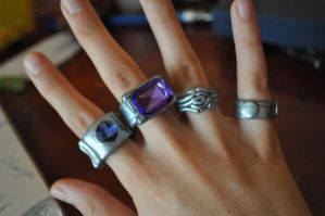 Lal Mirch rings by Flarya93