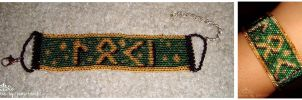 SOLD Loki in Germanic Futhark SOLD by kuroitenshi13