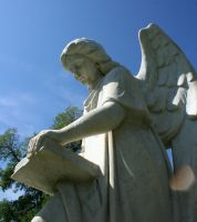 Mount Olivet Cemetery Archangel Uriel 75 by Falln-Stock