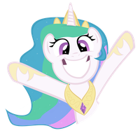 Celestia Cheer by PartTimeBrony