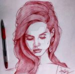 Lana Del Rey by KafleSunEalArtist