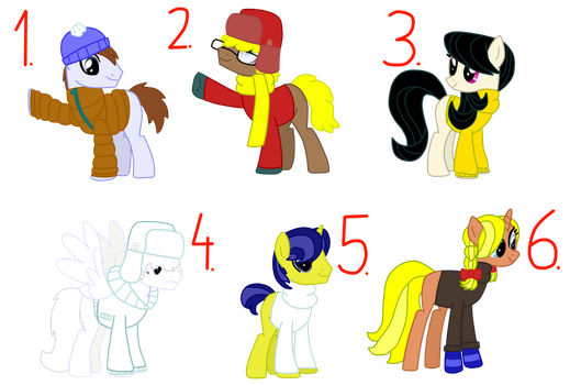 Pony Oc Snow Town adoptions #1 FREE! (CLOSES) by CubaSandwichPL