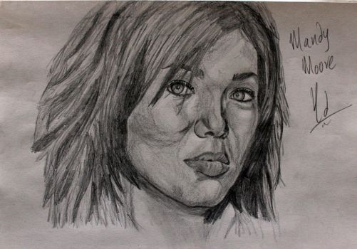 Mandy Moore - Pencil Portrait by thejedivind