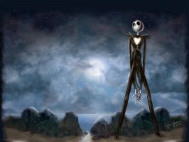 Jack Skellington Wall by yasmine-chan