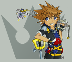 KH2 Sora -- 1 DAY LEFT by cherry-star
