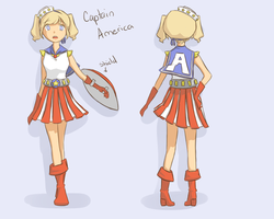 Kawaii'vengers: Captain America by jacyndaquil