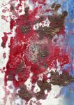 abstract rain: red abrasion by kyri-IS-dark