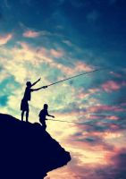 kids fishing by jd-photowork