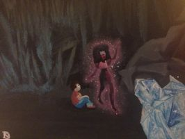Steven Universe Painting  by theoddlydifferentone