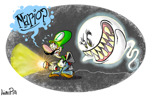 Luigi's Mansion by miss-strychnine