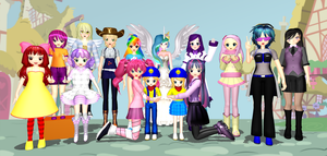 The Railway Family In Equestria (Take 1, Human) by Mario-McFly