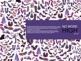 purple high heals shoes by razangraphics