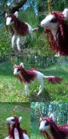 Felted white unicorn by Spyrre